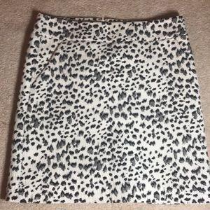 Loft Leopard mini skirt - S